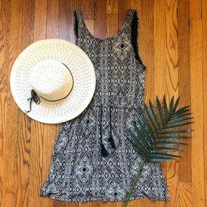 Lucky Brand Tribal Skater Mini Dress w/ Pockets M